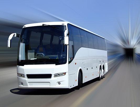 عکس با کیفیت اتوبوس سفید