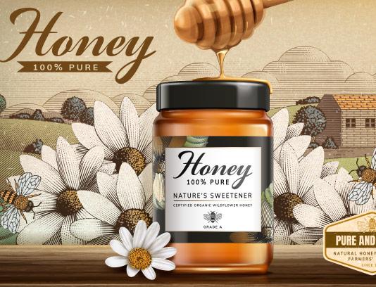 وکتور بنر فروش عسل طبیعی