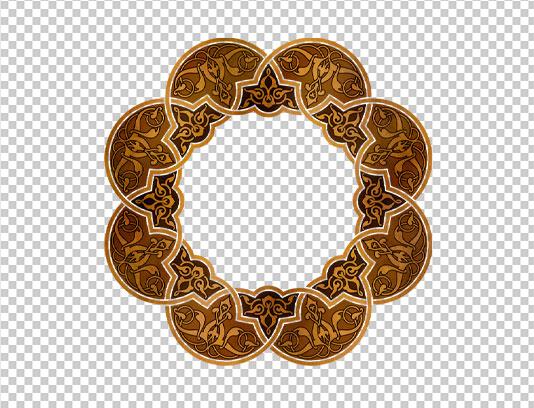 موتیف اسلیمی با بافت فلزی