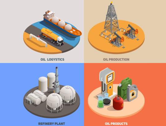 وکتور ایزومتریک تولید نفت