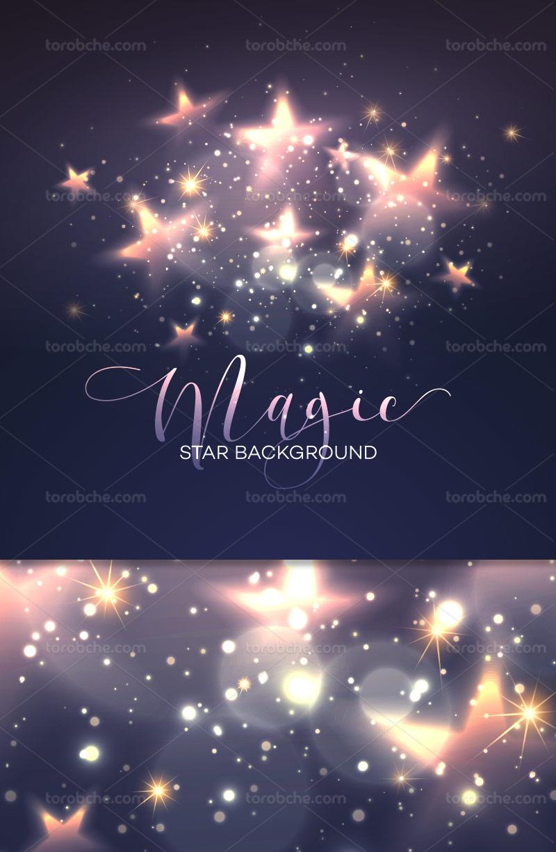 وکتور پس زمینه ستاره های درخشان