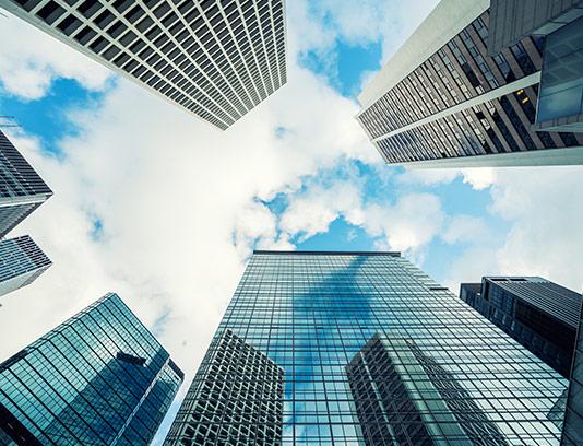 عکس ساختمان مدرن شیشه ای