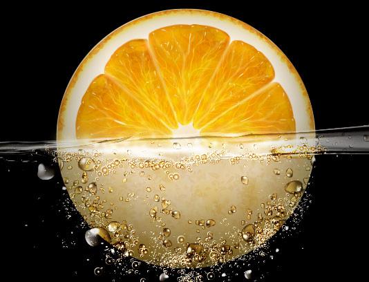 وکتور آب میوه پرتقال