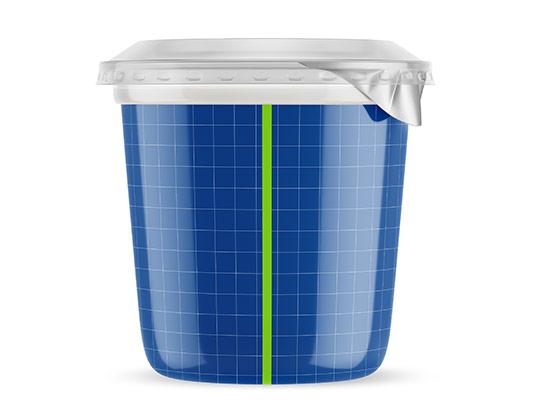 موکاپ ظرف ماست با پوشش پلاستیکی