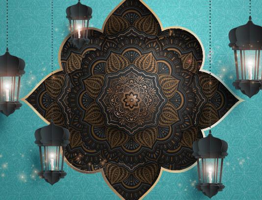 وکتور بکگراند ماه رمضان انتزاعی