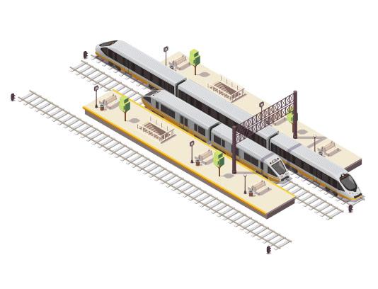 وکتور ایزومتریک راه آهن