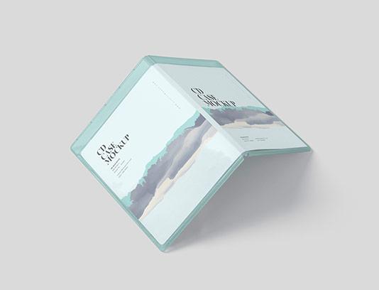موکاپ جلد سی دی لایه باز