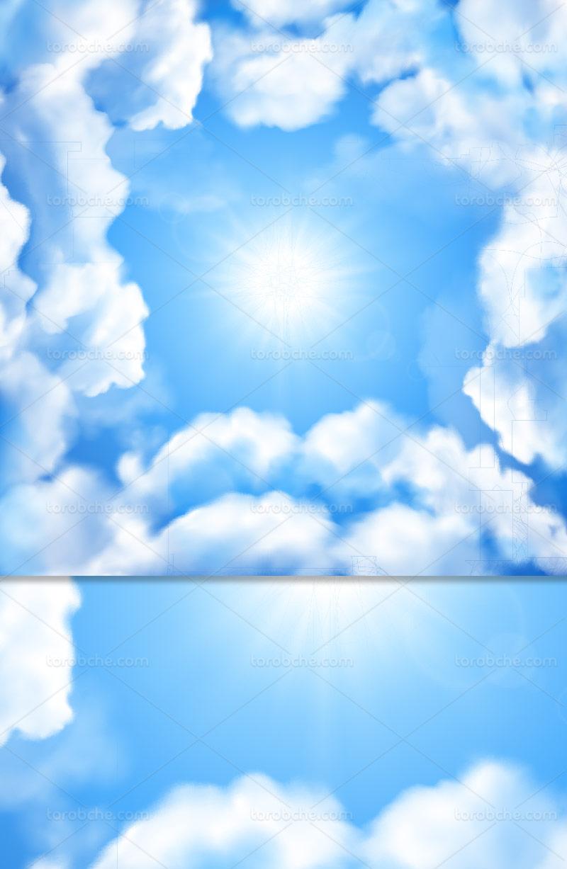 وکتور آسمان ابری انتزاعی
