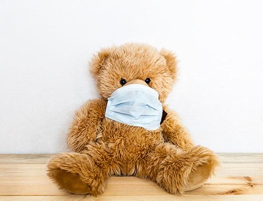 عکس خرس عروسکی بیمار