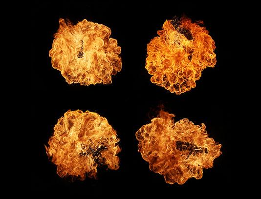 عکس گلوله آتش با کیفیت