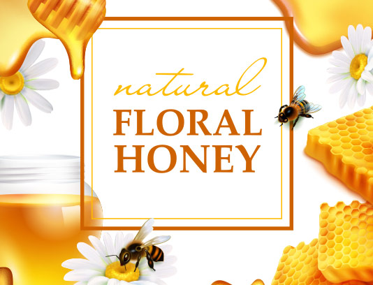 وکتور بنر تبلیغات عسل