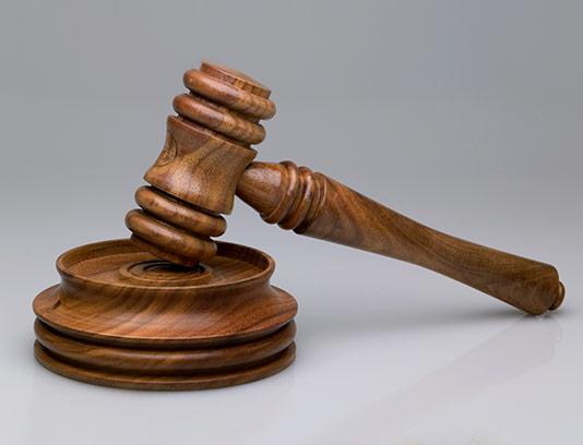 عکس چکش قاضی چوبی
