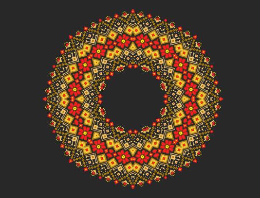 وکتور ماندالا رنگی انتزاعی