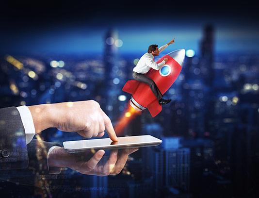 عکس مفهومی پیشرفت کسب و کار