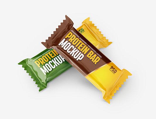 موکاپ شکلات لایه باز