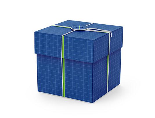 موکاپ جعبه هدیه مکعبی