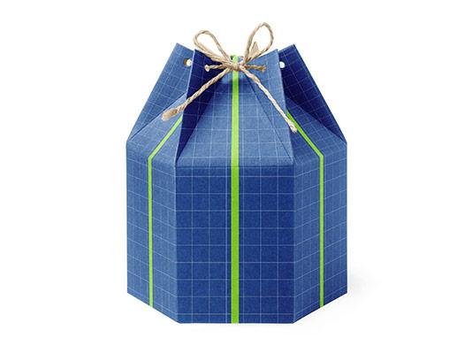 موکاپ بسته بندی جعبه هدیه