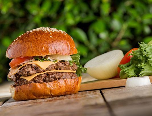 عکس با کیفیت همبرگر ویژه با کاهو