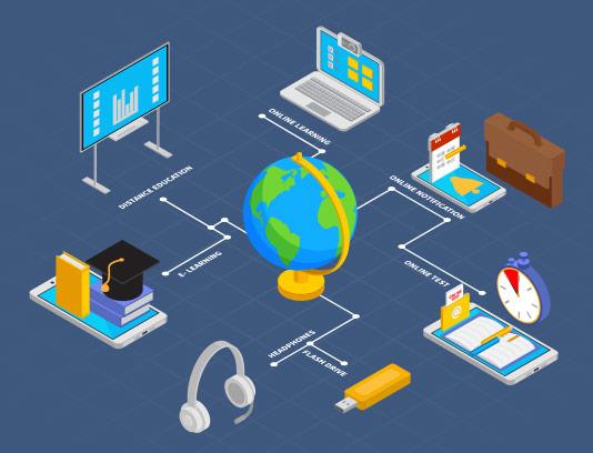وکتور آموزش آنلاین ایزومتریک