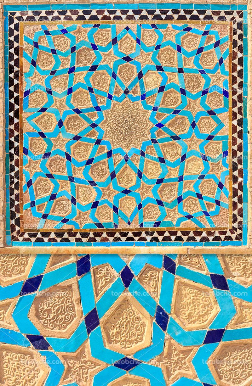 عکس کاشی کاری سنتی مسجد