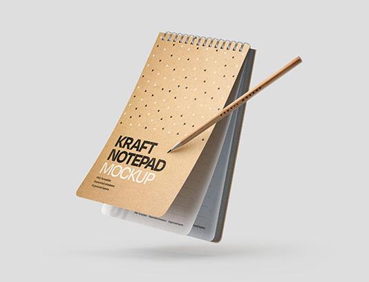 موکاپ دفترچه یادداشت PSD