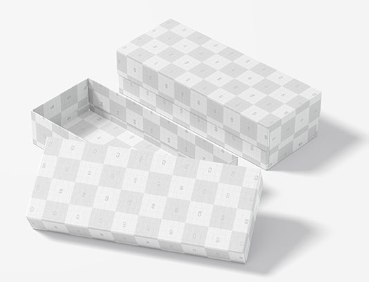 موکاپ بسته بندی جعبه مستطیلی