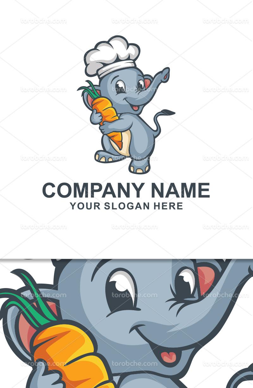 وکتور لوگو بچه فیل بامزه