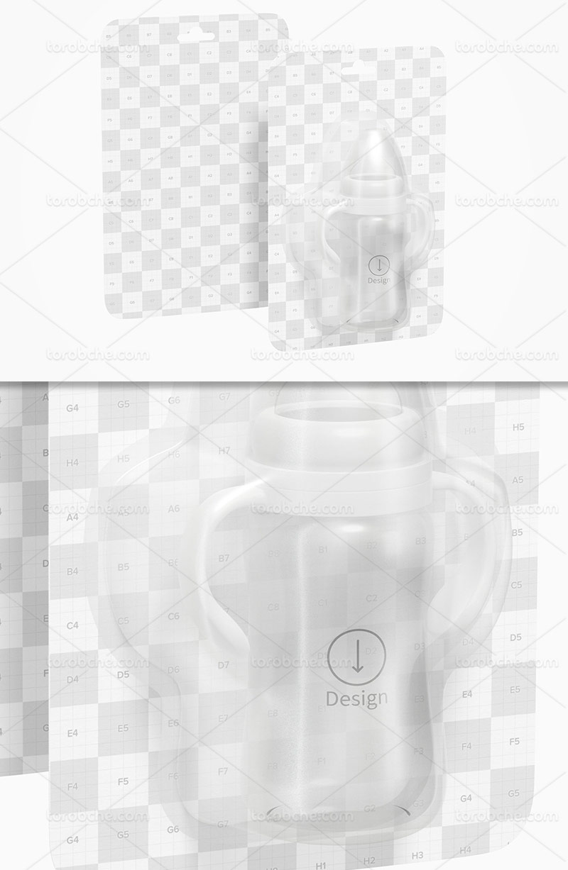 موکاپ شیشه شیر کودک لایه باز