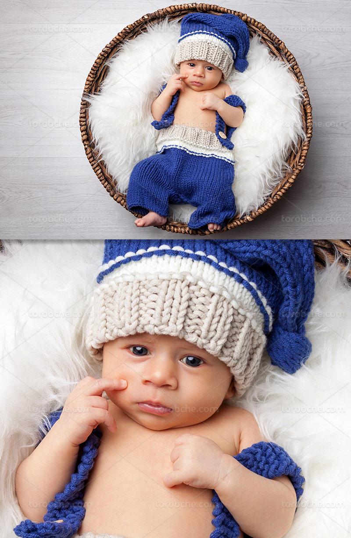 عکس با کیفیت نوزاد بامزه