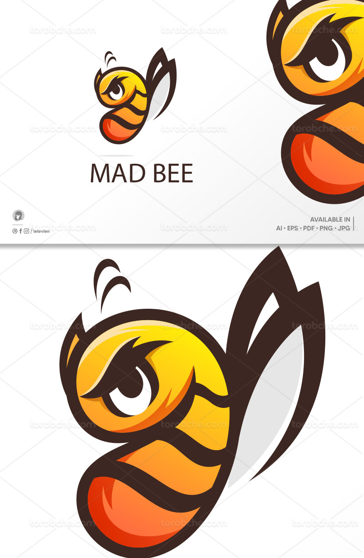 وکتور لوگو زنبور عصبانی
