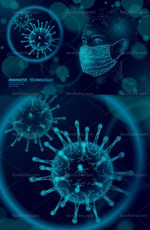 وکتور زمینه ویروس کرونا