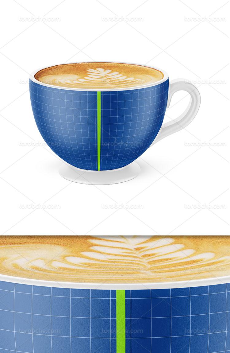 موکاپ فنجان قهوه لایه باز