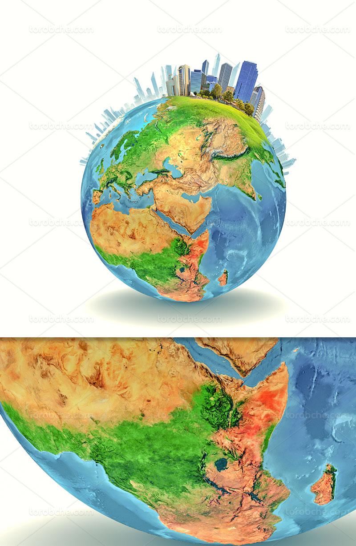 عکس با کیفیت کره زمین