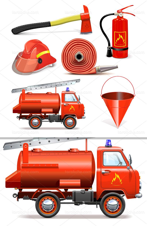 وکتور لوازم آتش نشانی