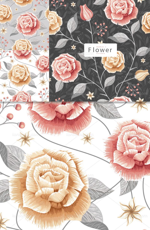 وکتور بکگراند گل و برگ رنگی