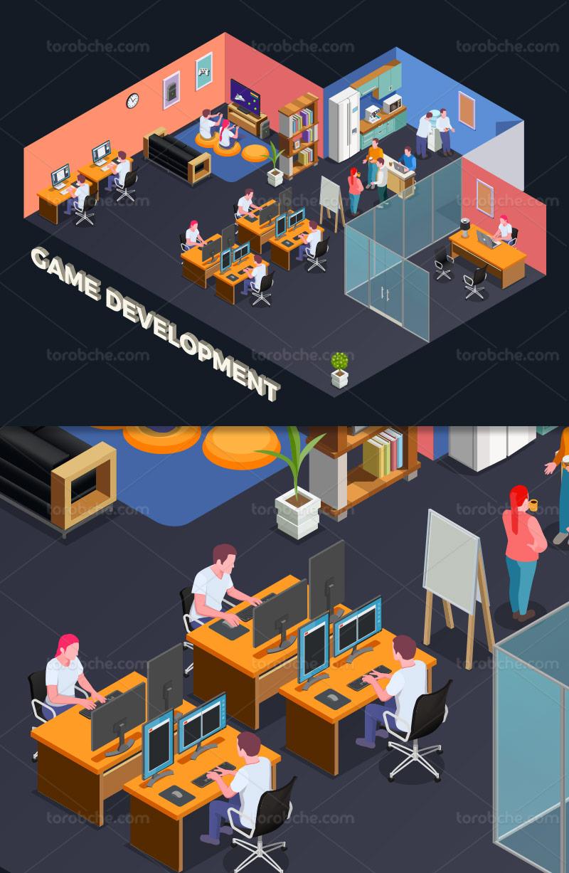 وکتور شرکت تولید بازی