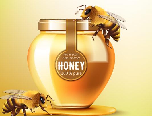 وکتور عسل طبیعی با کیفیت