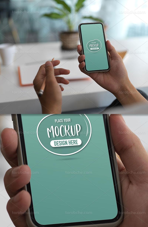 موکاپ لایه باز تلفن همراه