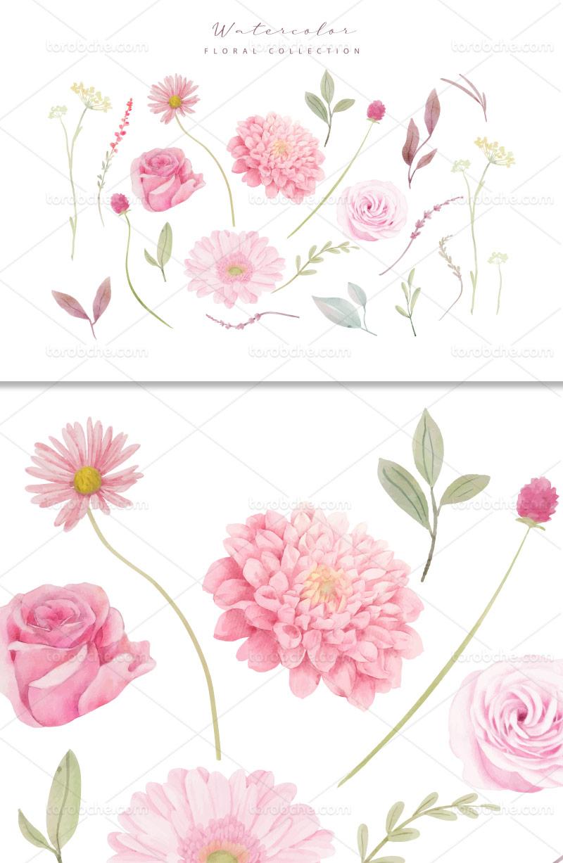 وکتور گل های صورتی