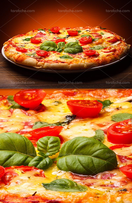 عکس با کیفیت پیتزا سبزیجات