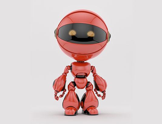 عکس با کیفیت ربات قرمز