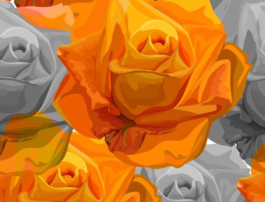 وکتور بکگراند گل رز