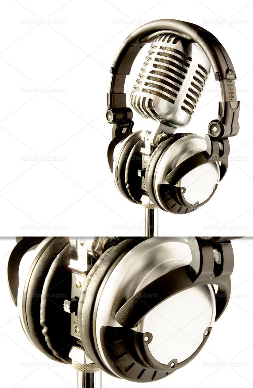 عکس میکروفون استدیویی با کیفیت