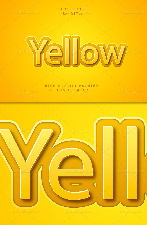 وکتور افکت متن زرد رنگ