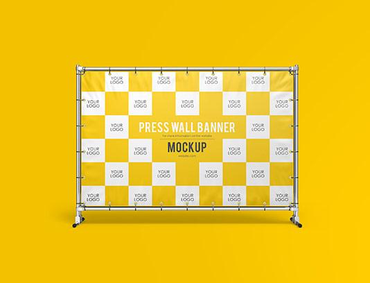 موکاپ بنر دیواری PSD