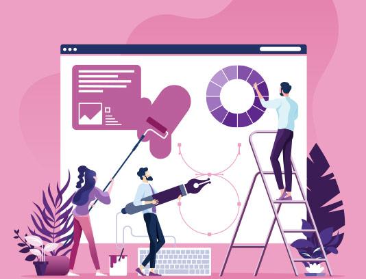 وکتور مفهومی طراحی وب