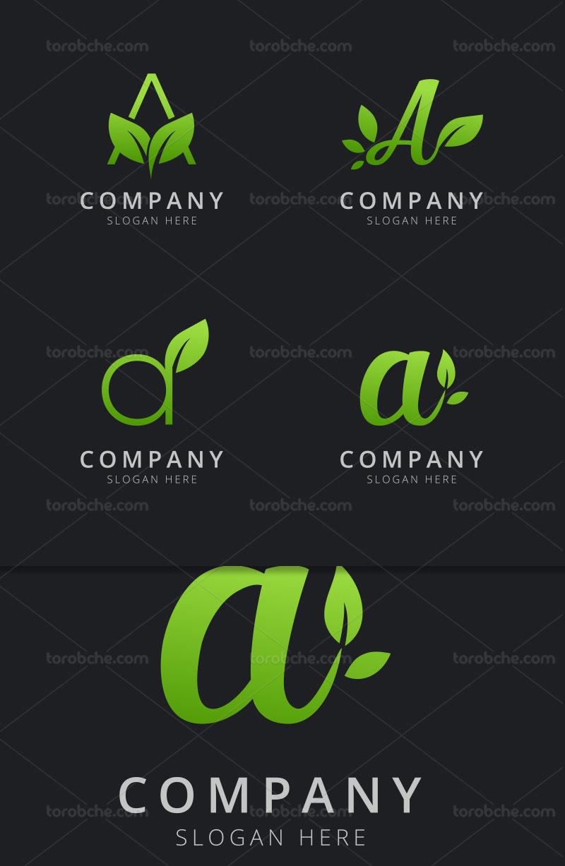 وکتور لوگو حرف A سبز