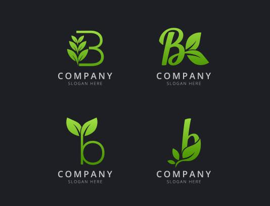 وکتور لوگو حرف B انتزاعی