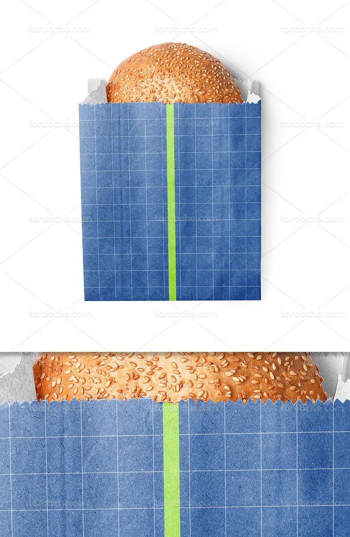 موکاپ بسته بندی نان لایه باز
