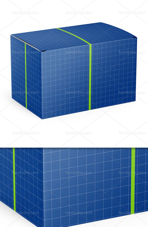 موکاپ بسته بندی جعبه مستطیلی PSD